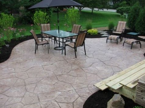 this image shows concrete patio rancho cucamonga