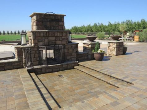 this image shows concrete rancho cucamonga fireplace