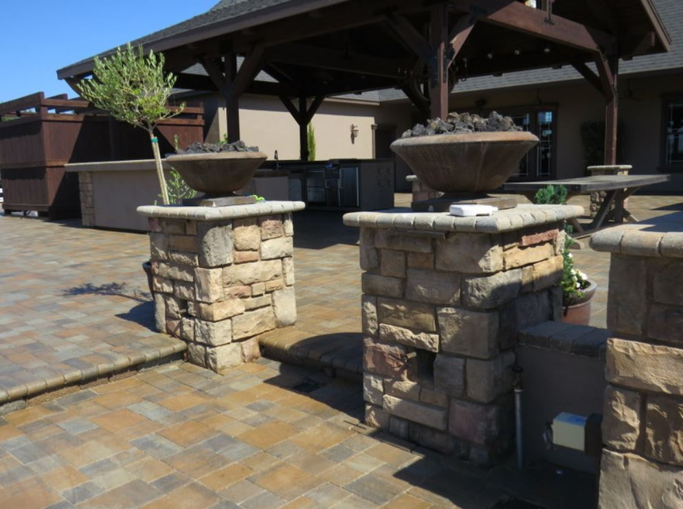 stacked stone pillars rancho cucamonga