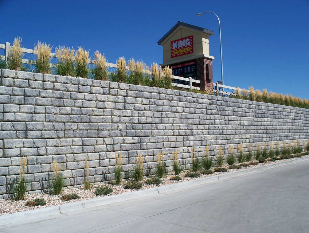 this is an image of retaining walls in Rancho Cucamonga