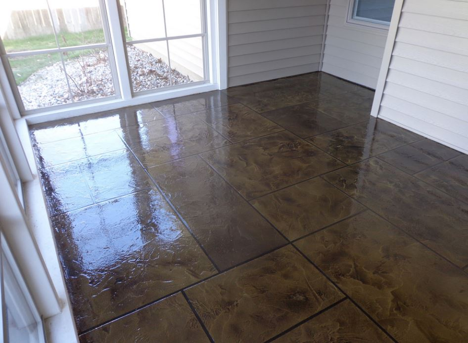 this is an image of stained concrete in Rancho Cucamonga