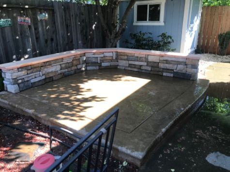 This is a picture of stone masonry in Rancho Cucamonga.