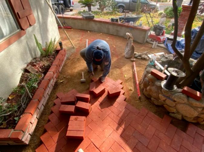 this image shows brick masonry in Rancho Cucamonga, California