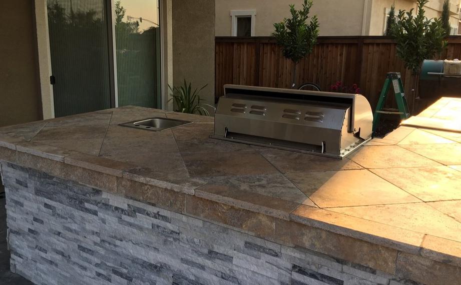 this image shows concrete countertop in Rancho Cucamonga, California