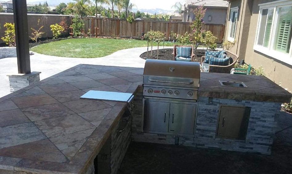 this image shows concrete countertops in Rancho Cucamonga, California