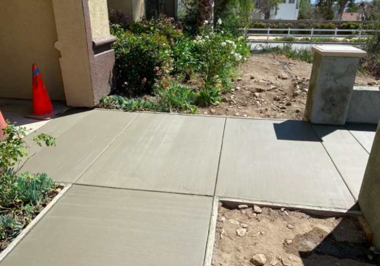 this image shows concrete finishing in Rancho Cucamonga, California