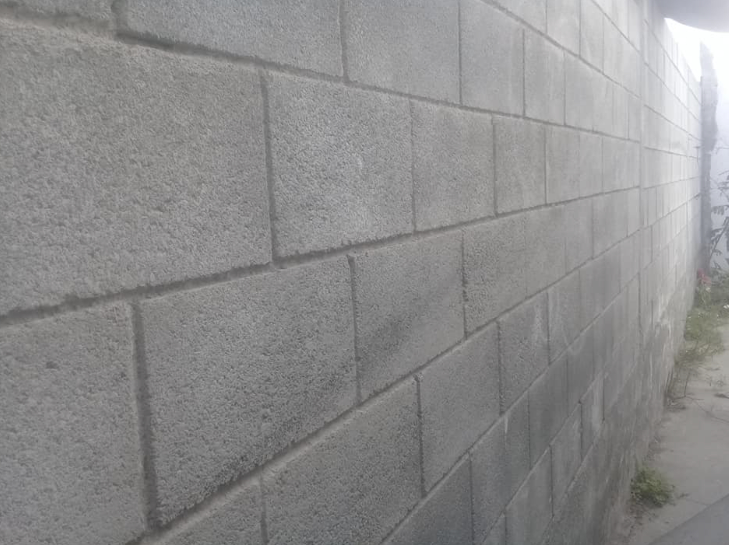 this image shows concrete wall in rancho Cucamonga, California