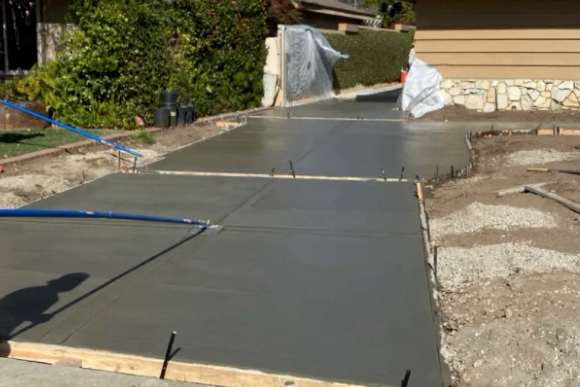 this image shows driveways in Rancho Cucamonga, California
