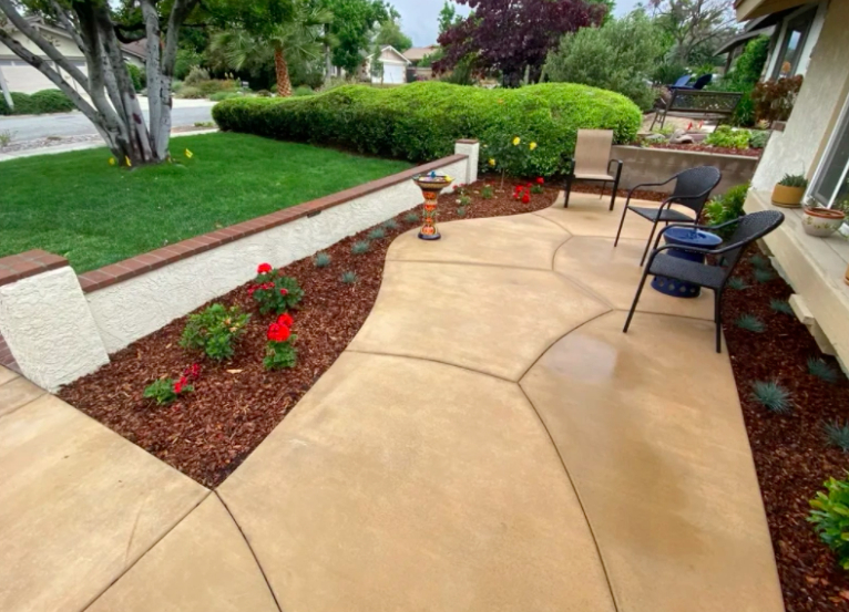 this image shows patios in Rancho Cucamonga, California