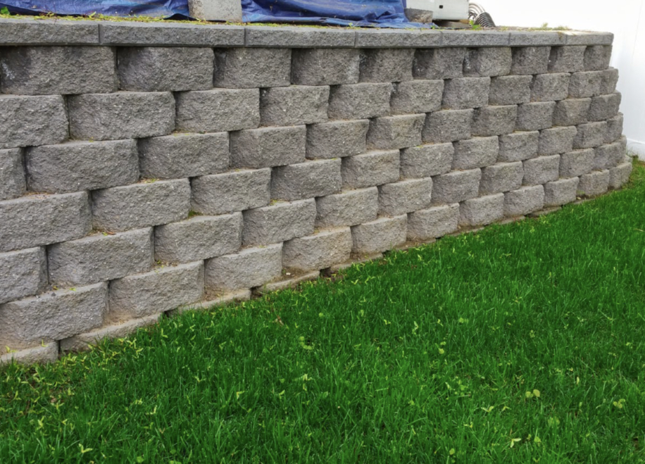 this is an image of retaining walls in Rancho Cucamonga, California