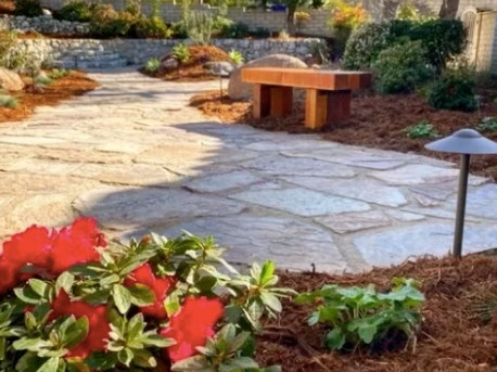this image shows stone pavement in rancho Cucamonga, California