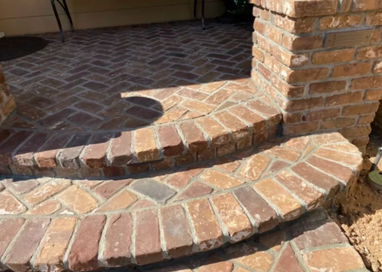 this image shows stone pavers in rancho Cucamonga, California