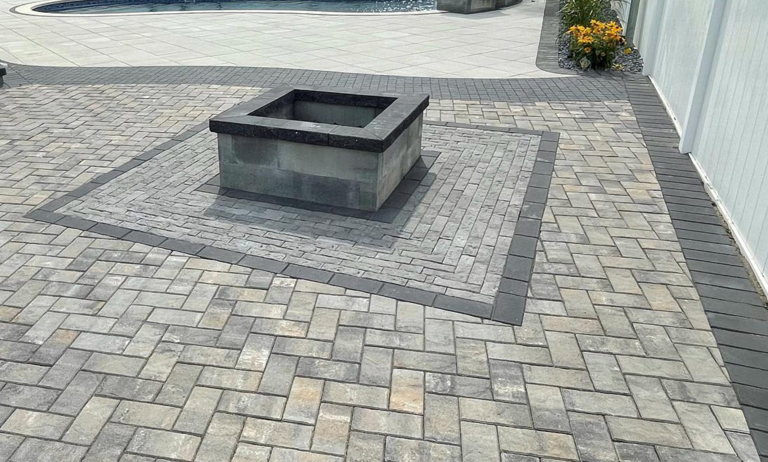 this image shows fire pits in Rancho Cucamonga, California