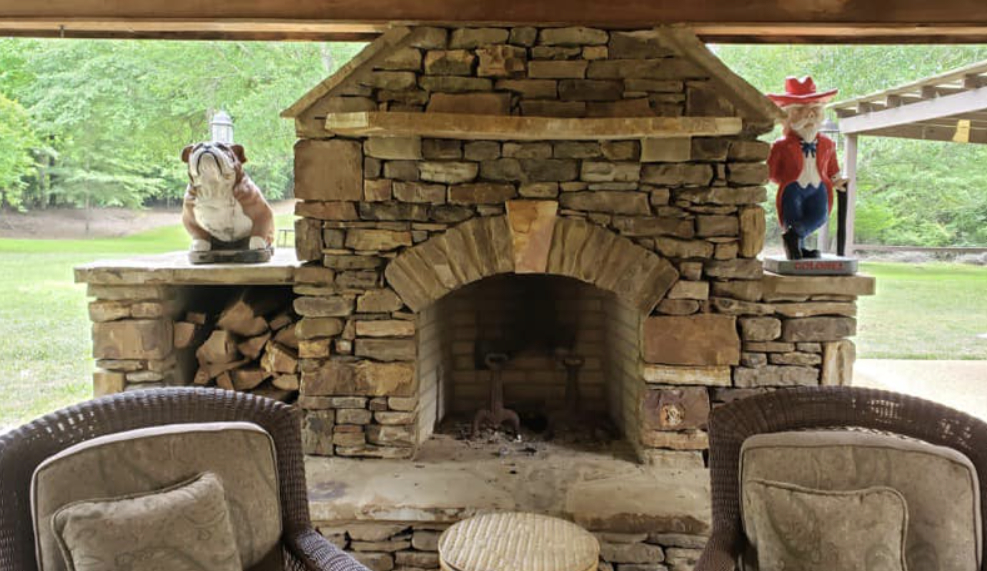 this image shows fireplace in Rancho Cucamonag, California